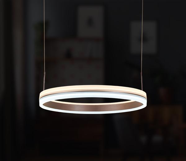 Elegante LED Hängeleuchte & Ringleuchte Marino