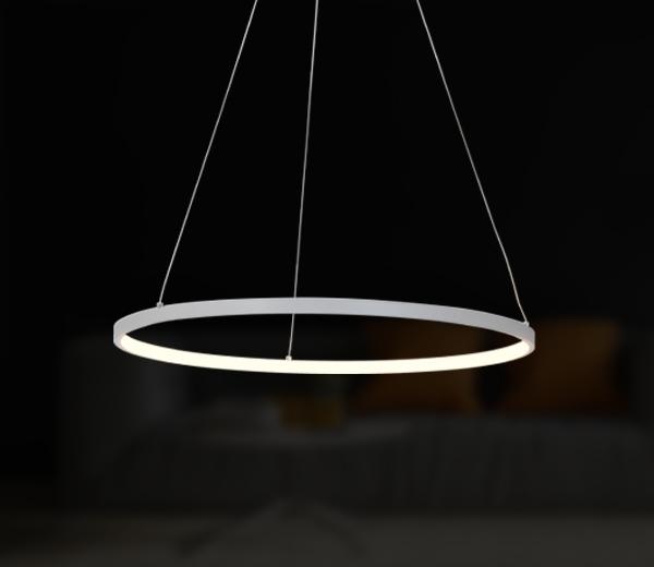 Modern LED pendant & ring light Messina
