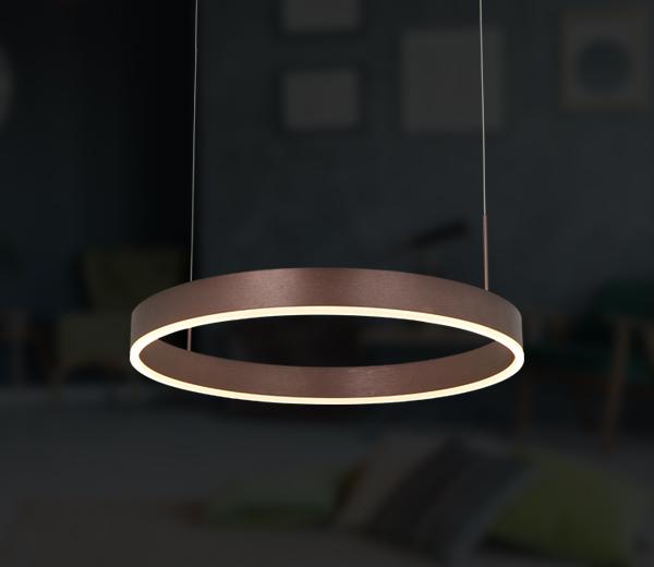 Filigree LED pendant & ring light Milano