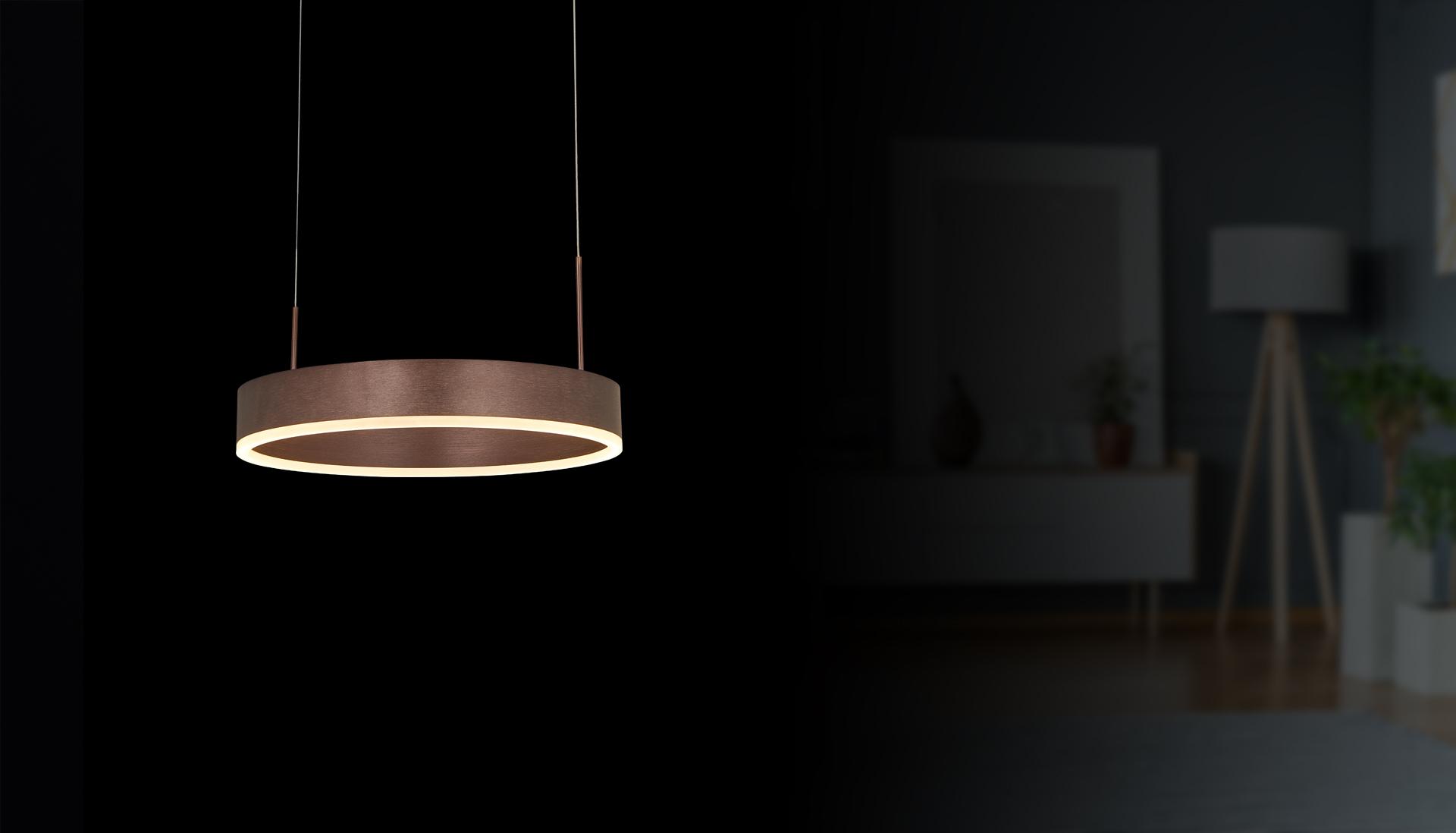 LED hanging lamp & ring light Milano